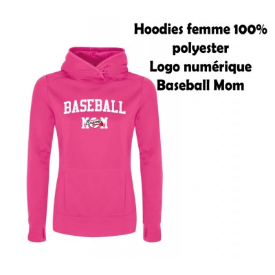 BB hoodies baseball mom rose polyester