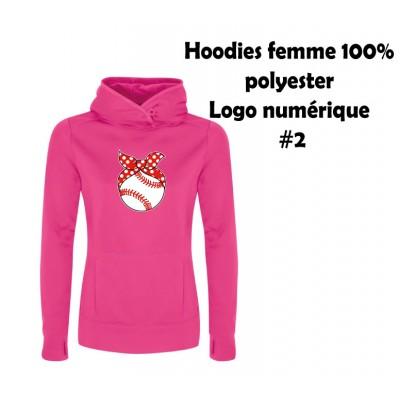 Baseball hoodies femme polyester #2