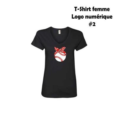 Baseball T-shirt femme choix #2