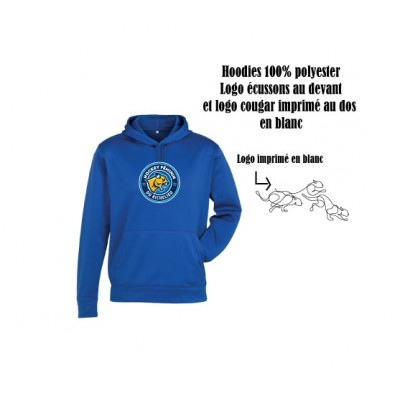 Féline hoodies polyester Royal