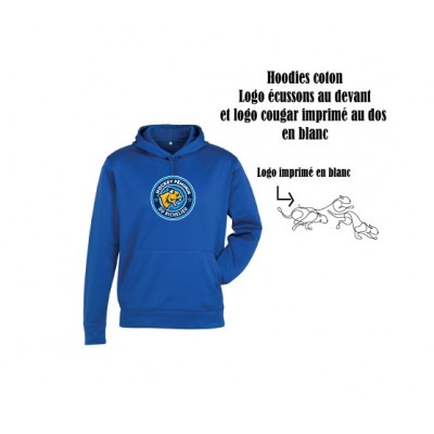 Féline hoodies coton Royal
